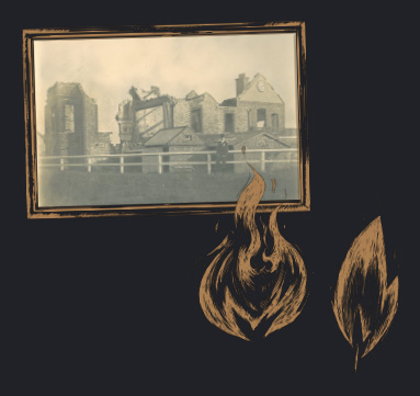 1899 - Major fire which destroyed The Clubhouse